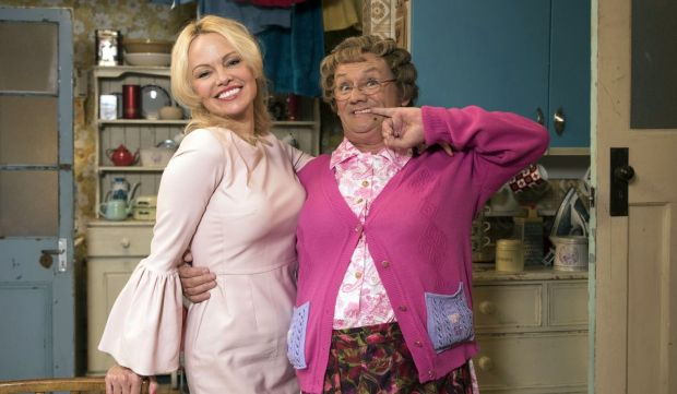 Pamela Anderson and Brendan O'Carroll in All Round to Mrs Brown's. Photograph: Graeme Hunter Pictures