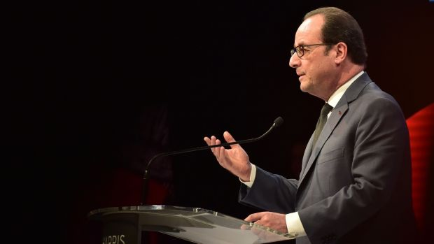 French president Francois Hollande. Photograph: Getty Images