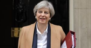 British prime minister Theresa May says she wants Britain and Ireland to remain committed partners. Photograph: Dan Kitwood/Getty Images