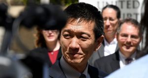 Douglas Chin made arguments to block Donald Trump's travel ban before the court. Photograph: Hugh Gentry/Reuters