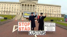 Anti-Brexit protesters march on Stormont