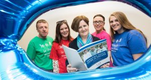 Pictured shows volunteers from left Aengus Burke; Madeline Treacy; Anne Conroy, chief executive of Le Cheile; Ingrid Cooney (Mentor co-ordinator); and Emily Dolge. Photograph : Naoise Culhane