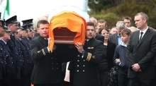 Funeral of Rescue 116 pilot Captain Mark Duffy takes place