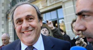 Former Uefa president Michel Platini. Photograph: Fabrice Coffrini/AFP/Getty Images