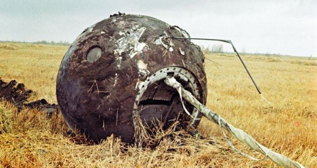 4b0ffbc91 The capsule landed empty as Russian cosmonaut Yuri Gagarin, the first human  to travel into