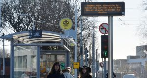 Dublin Bus: the fleet was out of service on Friday due to secondary picketing during an unofficial strike by transport workers as part of the Bus Éireann strike. Photograph: Alan Betson