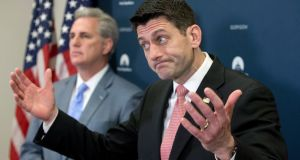 US speaker of the House Paul Ryan: forced into ignominious retreat last week. Photograph: Michael Reynolds/EPA