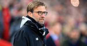 Liverpool manager Jurgen Klopp says Merseyside derby will be most significant of his reign. Photograph: Peter Byrne/PA Wire.
