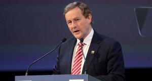 Taoiseach Enda Kenny  welcomed the language in the EU document circulated on Friday. Photograph: Domenic Aquilina/EPA