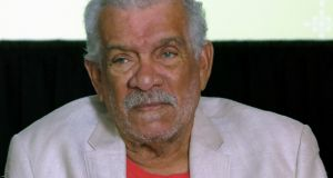 Writer Derek Walcott: January 23rd, 1930-March 17th,  2017. Photograph:  Berenice Bautista/AP