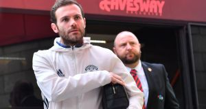 Manchester United look set to be without Juan Mata for the rest of the season after he unerwent groin surgery. Photo: Anthony Devlin/Reuters