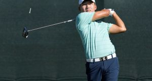 Sung Kang leads by three heading into the final round in Houston. Photograph: Wilf Thorne/Houston Chronicle via AP