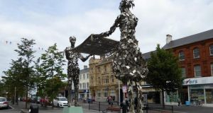 Linen Bleachers statue: The visual message is clear. Photograph: Heritage Lottery Fund, Northern Ireland