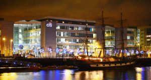Citi pivot: the group, whose Irish businesses are based on North Wall Quay in Dublin, hopes its shift will boost returns to shareholders. Photograph: Alan Betson