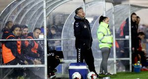 Former Limerick manager Martin Russell during the defeat to Cork City on Friday night. Photograph: Inpho