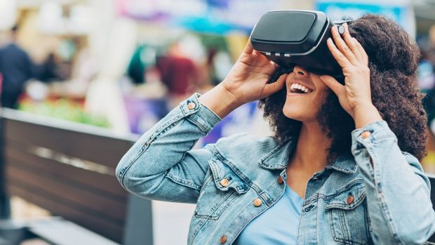"""Soon all this geeking out will soon become second nature to us, since a $15 cardboard version of virtual reality helmets is already on sale for your own VR immersion experiences."" Photograph: P Chernaev/iStock"