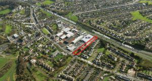 Redevelopment site next to the Aldi retail centre in Palmerstown Village, Dublin 20