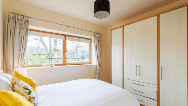 There are two double bedrooms with good built-in wardrobe space and windows that look out to the waterway