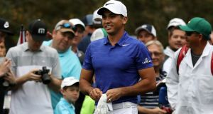 Jason Day of Australia during a practice round prior to the start of the 2017 Masters Tournament at Augusta National. Photograph: Rob Carr/Getty Images