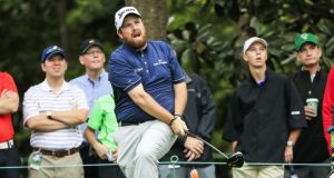Shane Lowry takes a practice round on the course at the 2017 Masters Tournament  in Augusta, Georgia, on Monday.  Photograph: Tannen Maury/EPA