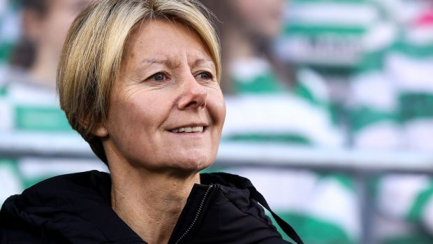 "Former Ireland manager Sue Ronan: ""We're aiming to raise the profile of women's football."" Photograph: Tommy Dickson"