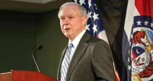 US attorney general Jeff Sessions. Photograph: Lawrence Bryant/Reuters