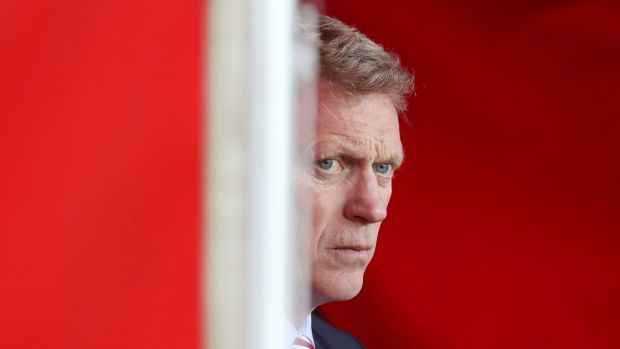 "Moyes apologised to BBC reporter Viki Sparks for syaing she ""might get a slap"". Photo: Owen Humphreys/PA Wire"