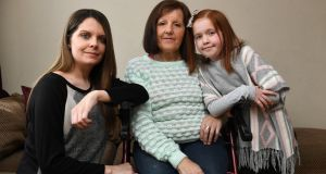 Kathleen Buckley with her daughter Anna Buckley and granddaughter Rebecca O'Brien, who also have the condition. Photograph: Domnick Walsh