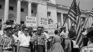 This anti-integration rally in Little Rock, Arkansas,  is  featured in I am not your Negro.