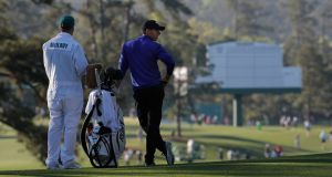 Rory McIlroy during Tuesday's practice rounds for the 2017 Masters at Augusta National. Photograph: Reuters