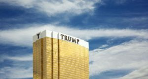 The Trump Tower Hotel & Casino, Las Vegas: the industry is wondering if a property developer in the White House will pay off. Photograph: Carmen Martinez Torrin/Getty Images