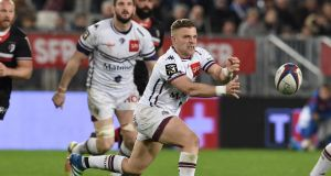 Bordeaux-Begles'  Ian Madigan will be leaving the French Top 14 for English Championship side Bristol. Photograph: Nicolas Tucat/AFP/Getty Images