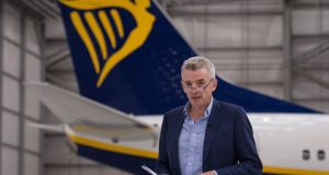 Michael O'Leary: Warned that aircraft might not fly between the EU and UK for a time after spring 2019 exit. Photograph: Stefan Rousseau/PA