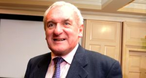 Former taoiseach Bertie Ahern: expected to outline to select committee on Brexit the implications for Ireland of the UK's EU exit. Photograph: Cyril Byrne