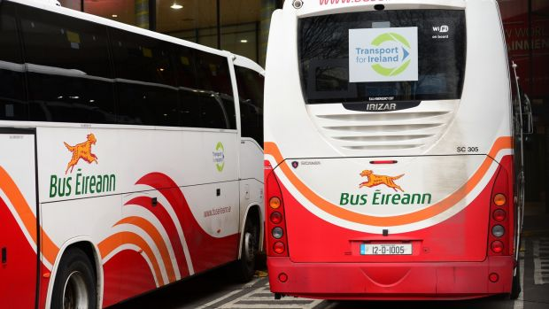 Bus Eireann, around Busaras in Dublin. Photograph: Dara Mac Dónaill / The Irish Times