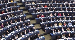 Members of the European Parliament take part in a voting session at the European Parliament in Strasbourg. Photograph: Sebastien Bozon/AFP/Getty Images