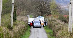 Garda at the scene of a fatal collision in Rattoo, Ballyduff, Co Kerry. Photograph: Domnick Walsh