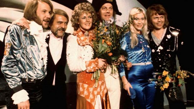 Abba at the Eurovision in 1974
