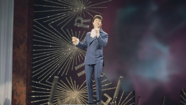 Cliff Richard performing 'Congratulations' in 1968. Photograph: Getty Images