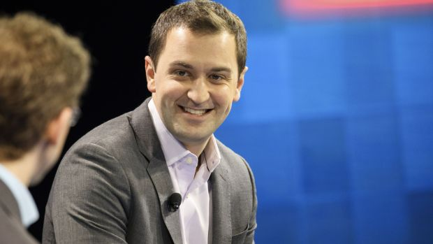 "John Zimmer, co-founder of Lyft whose slogan is ""a ride whenever you need one"". Photograph: Getty Images"