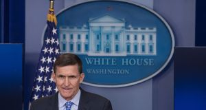Former US national security adviser Mike Flynn. Photograph: Getty