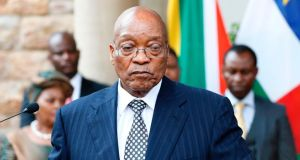 South African President Jacob Zuma: facing a growing challenge from within his own party. Photograph: Phill Magakoe/Getty Images
