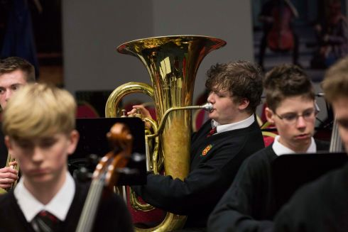 Gerard Coleman of The High School pictured  at the ESB Feis Ceoil.  This and subsequent photographs by Clare Keogh