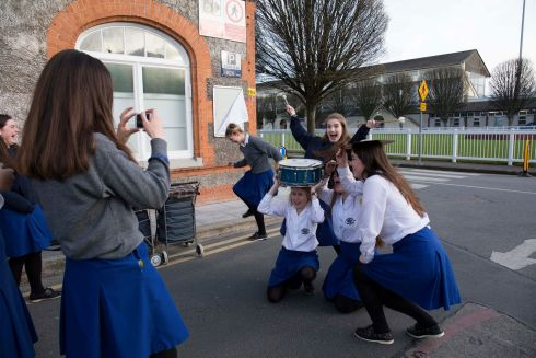 Loreto Kilkenny School Orchestra pictured celebrating their win.