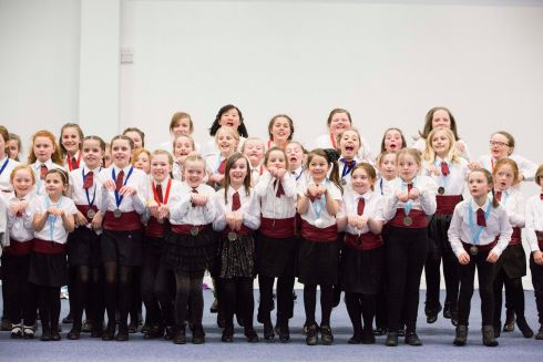 The Moate Children's Choir which won the Junior Choirs Unison competition