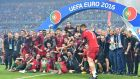 Uefa made €847 profit from Euro 2016, which was won by Portugal. Photograph: Mustafa Yalcin/Getty