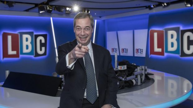 Ukip's only star: Nigel Farage, the party's former leader, spends more of his time these days as a radio presenter and Fox News contributor. Photograph: John Phillips/Getty