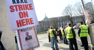 The NBRU and Siptu say the strike at Bus Éireann will  continue    while talks on resolving the dispute at the company  will continue at the Workplace Relations Commission. File photograph: Dara Mac Dónaill/The Irish Times