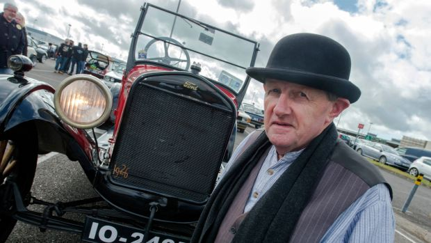 Ford collector and enthusiast Bill Cuddy, with his 1926 Model T, built in Cork. Photograph: Michael Mac Sweeney/ Provision