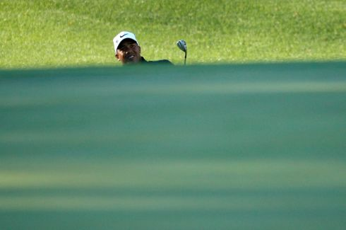 Jhonattan Vegas hits onto the third green. Photograph: Brian Snyder/Reuters